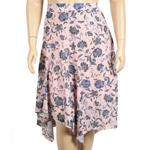 Eloquii Blue Asymmetrical Midi Skirt